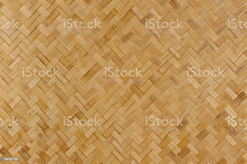 Herring-bone bamboo background. stock photo