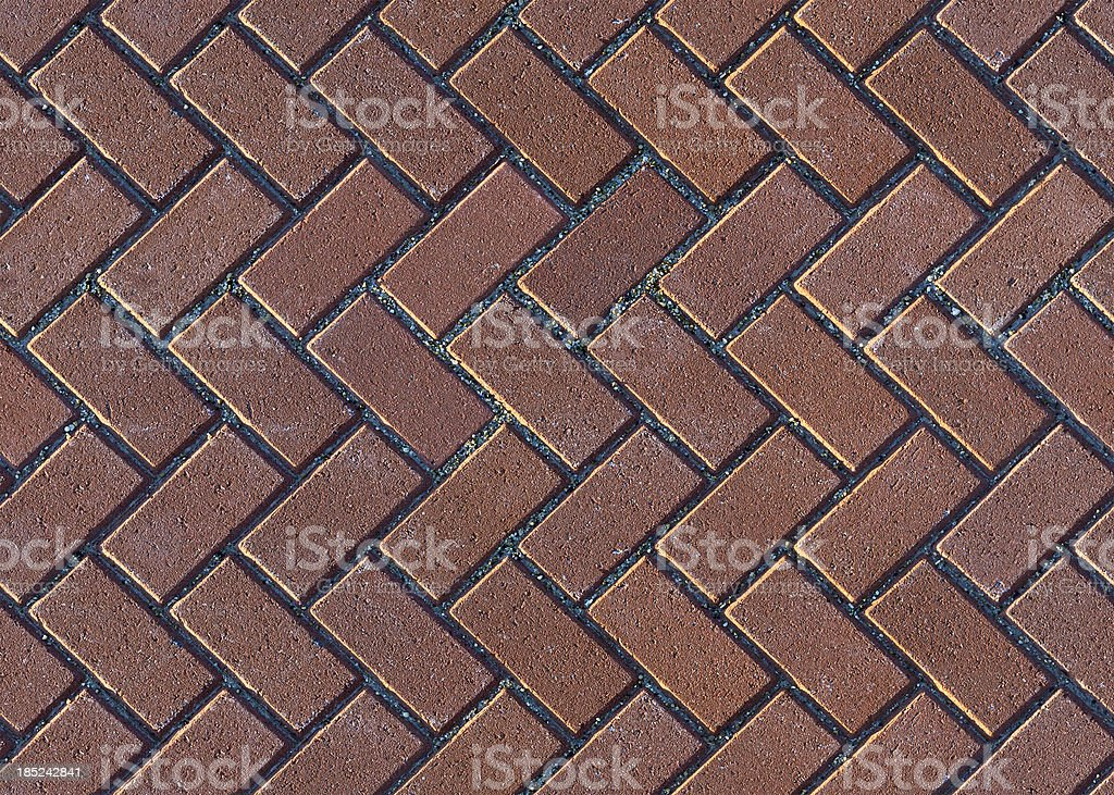 Herringbone Brick Pavers royalty-free stock photo