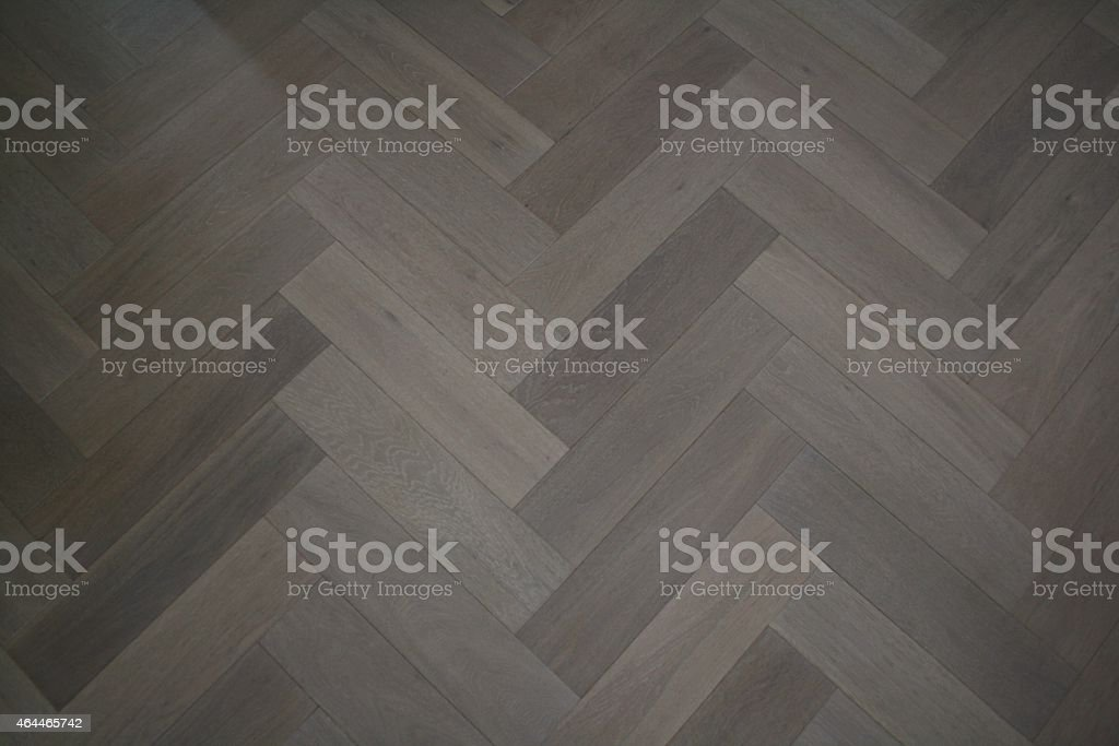Herringbone Parquet oak floor stock photo