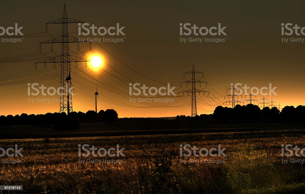Herrlicher Abendhimmel im Sonnenuntergang royalty-free stock photo