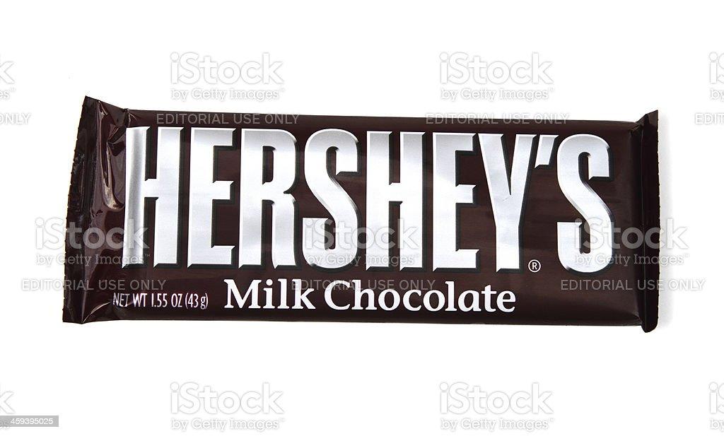 Hershey's chocolate candy bar stock photo