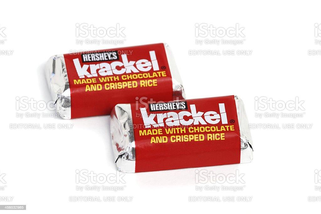 Hershey's Krackel candy bar snack size stock photo