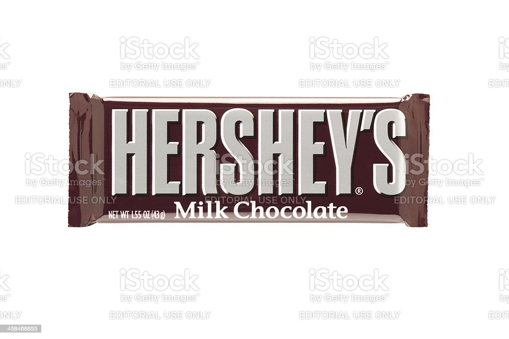 Hershey's Milk Chocolate Bar royalty-free stock photo