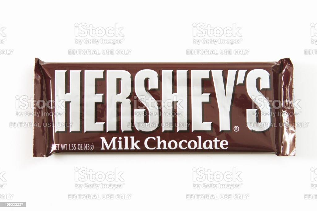 Hershey's Milk Chocolate Candy Bar stock photo