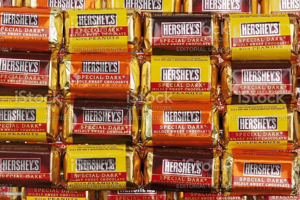 Hershey's Special Dark Chocolate Bars stock photo