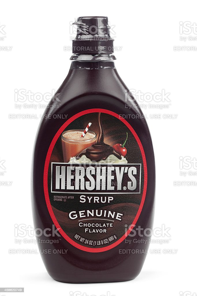 Hershey's Syrup Isolated royalty-free stock photo