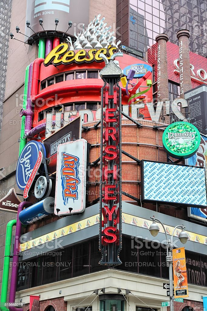 Hersheys, Times Square stock photo