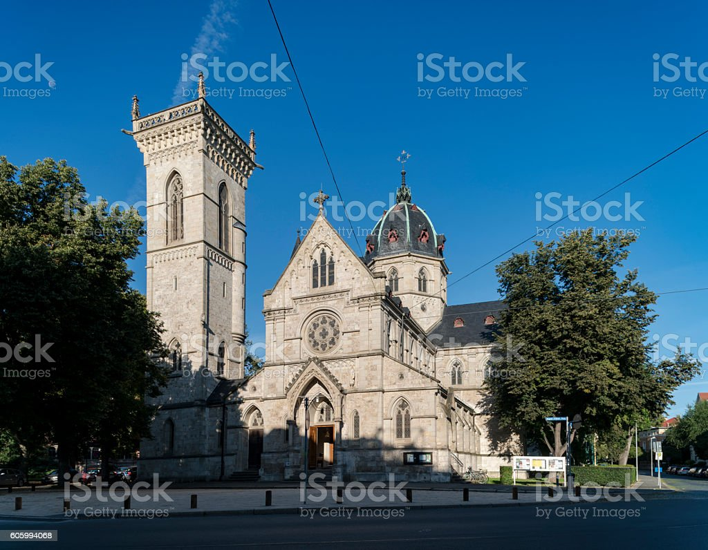 Herz-Jesu church Weimar stock photo