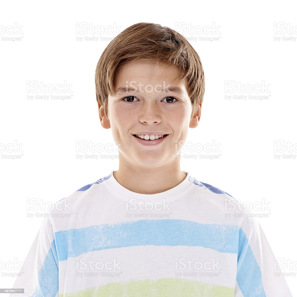 He's a bright lad stock photo