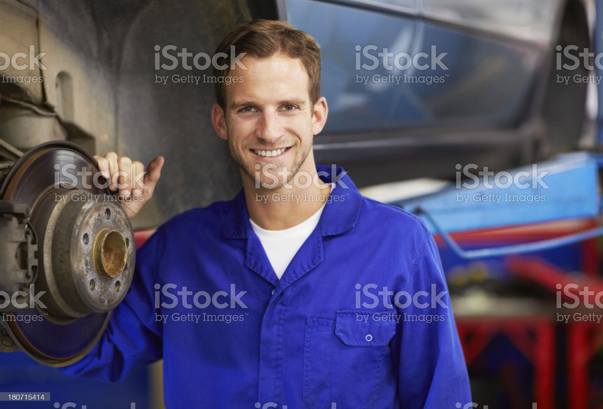 He's a confident automotive pro! royalty-free stock photo