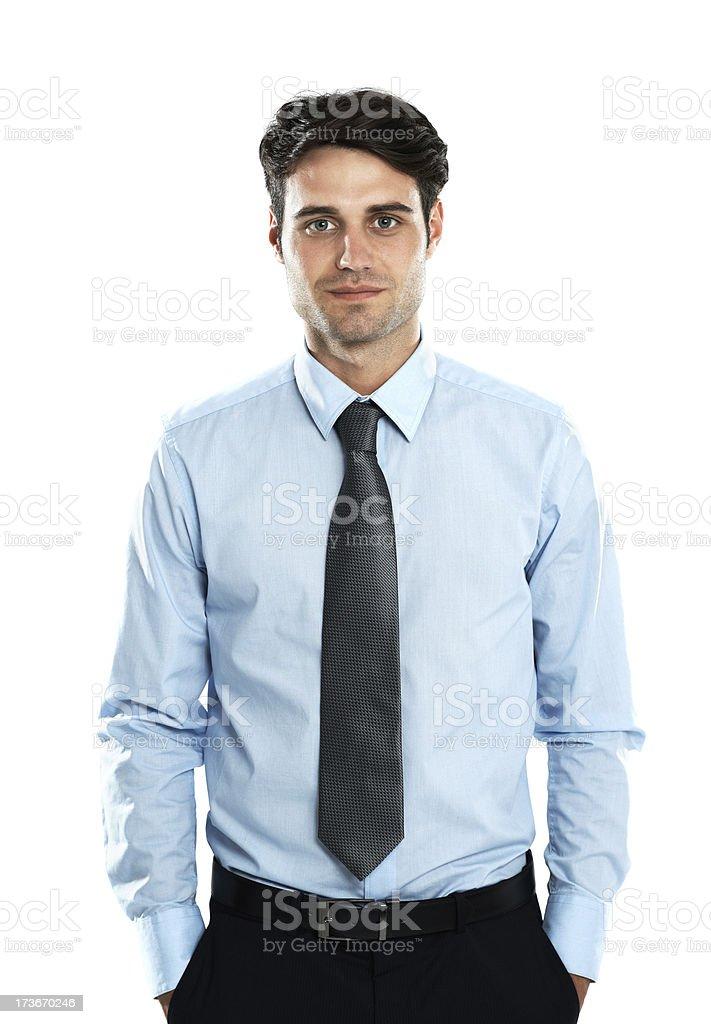 He's a confident businessman stock photo