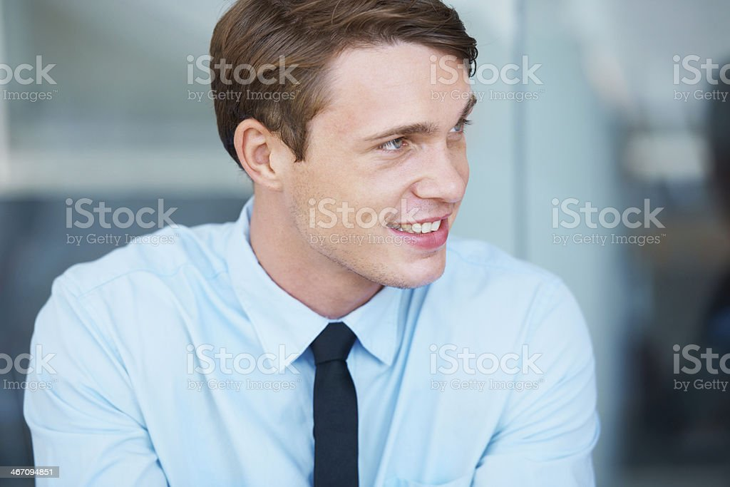 He's a corporate climber! stock photo