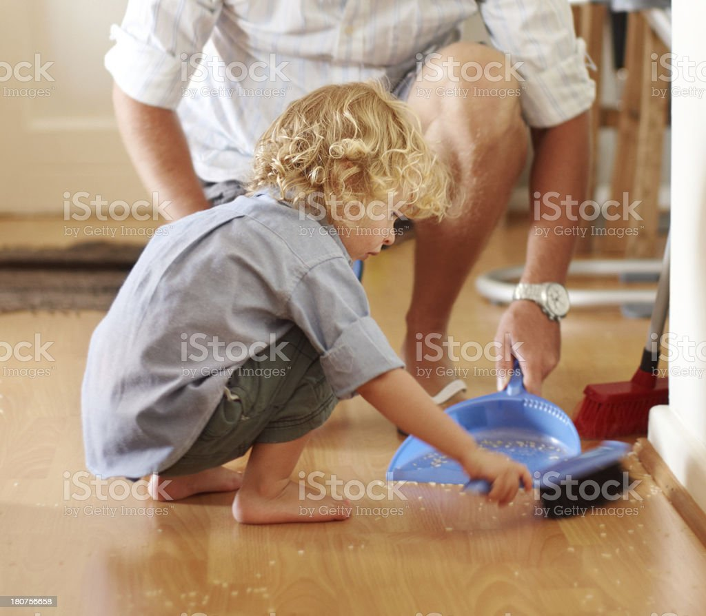 He's a cute cleaner stock photo