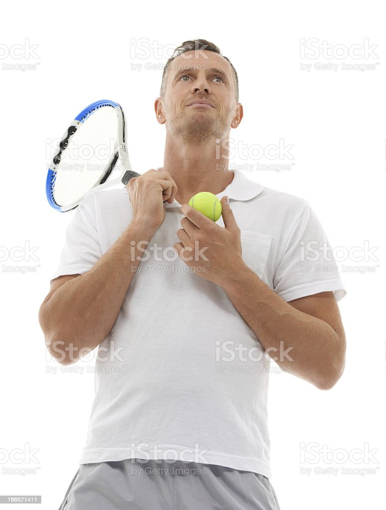 He's a fierce competitor stock photo