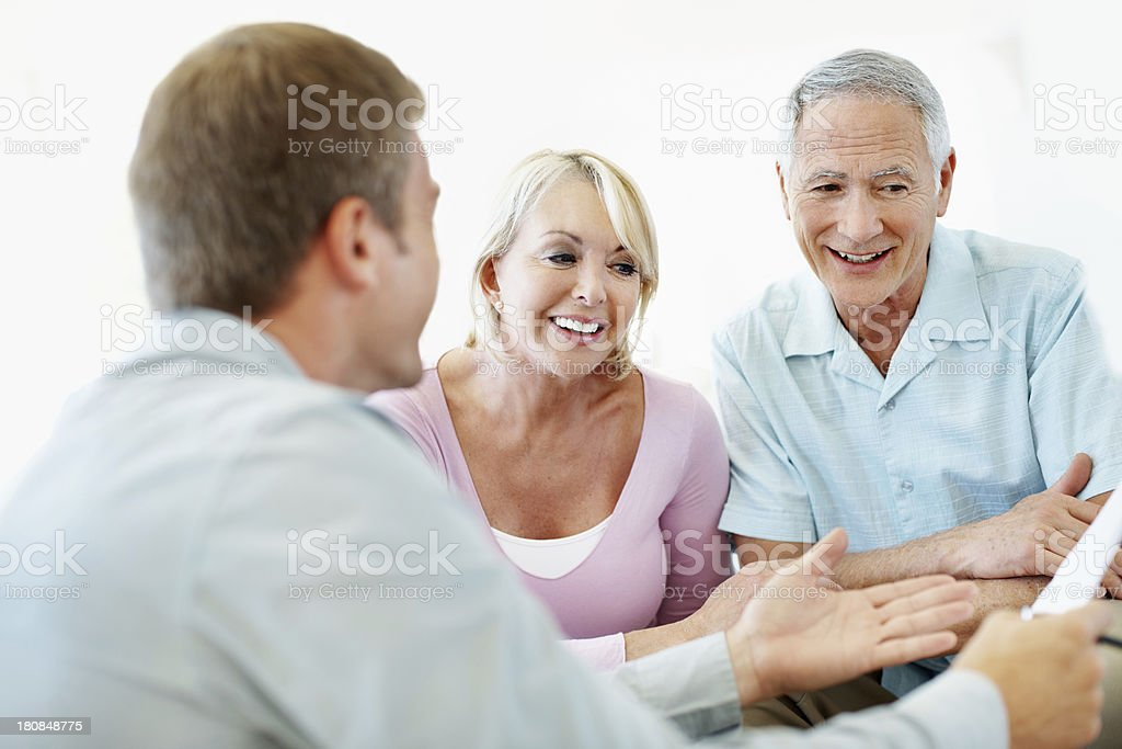 He's a great financial planner royalty-free stock photo