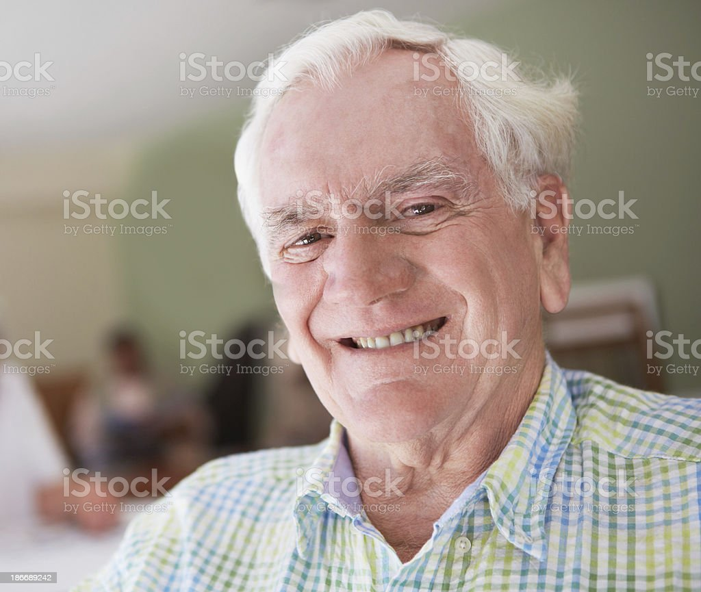 He's a happy grandfather royalty-free stock photo