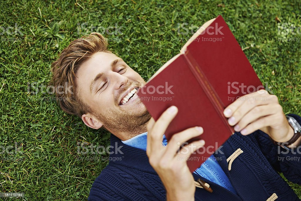 He's a lover of words royalty-free stock photo