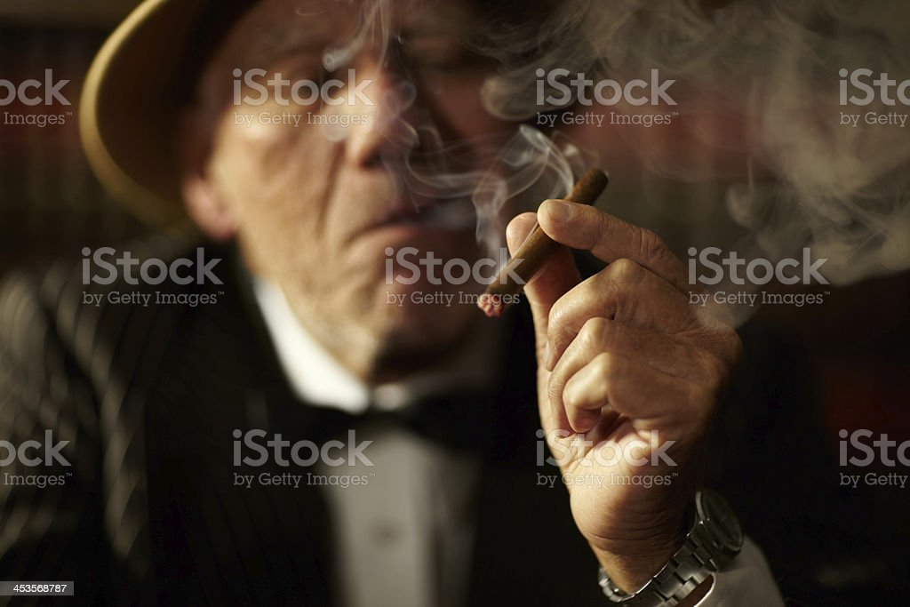 He's a man of criminal vices royalty-free stock photo