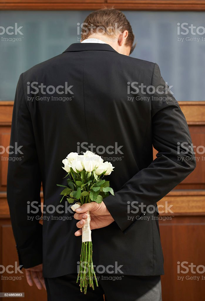 He's a man of mystery stock photo
