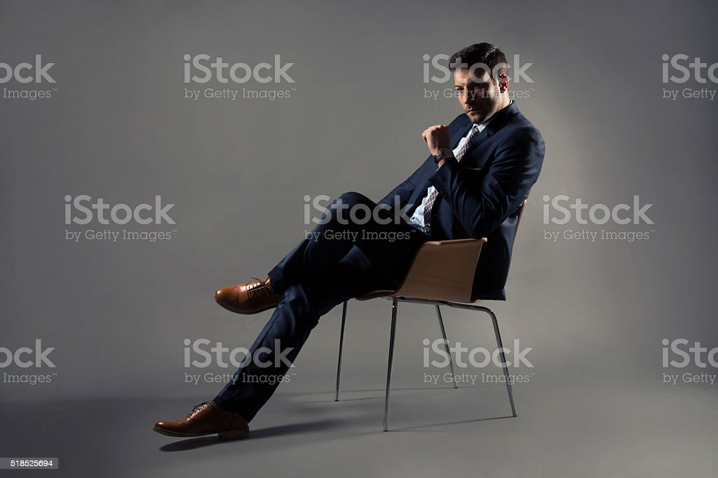 He's A Man Of Style stock photo