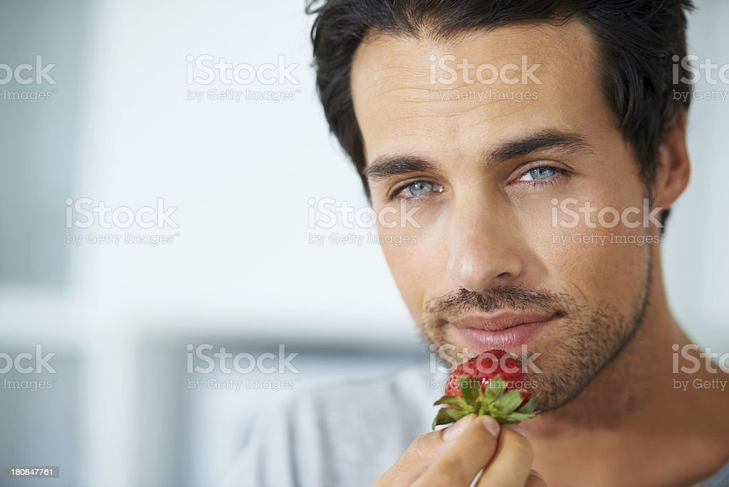 He's a man of sweet simplicity royalty-free stock photo