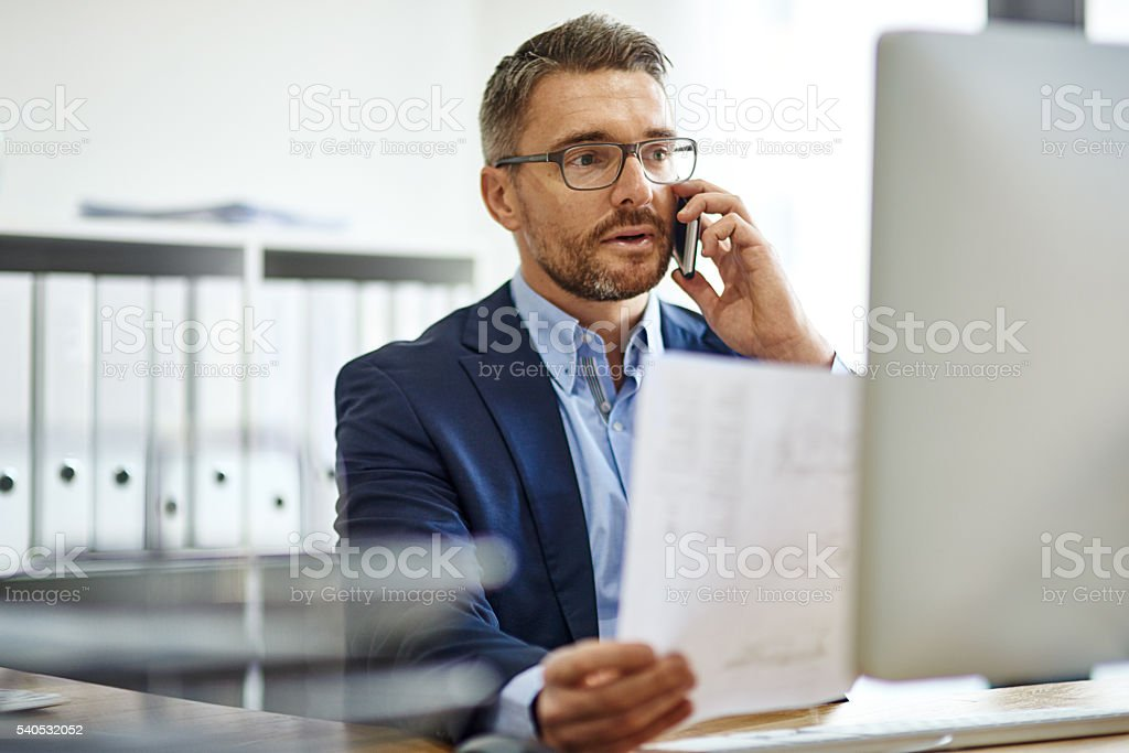 He's a man with a plan stock photo