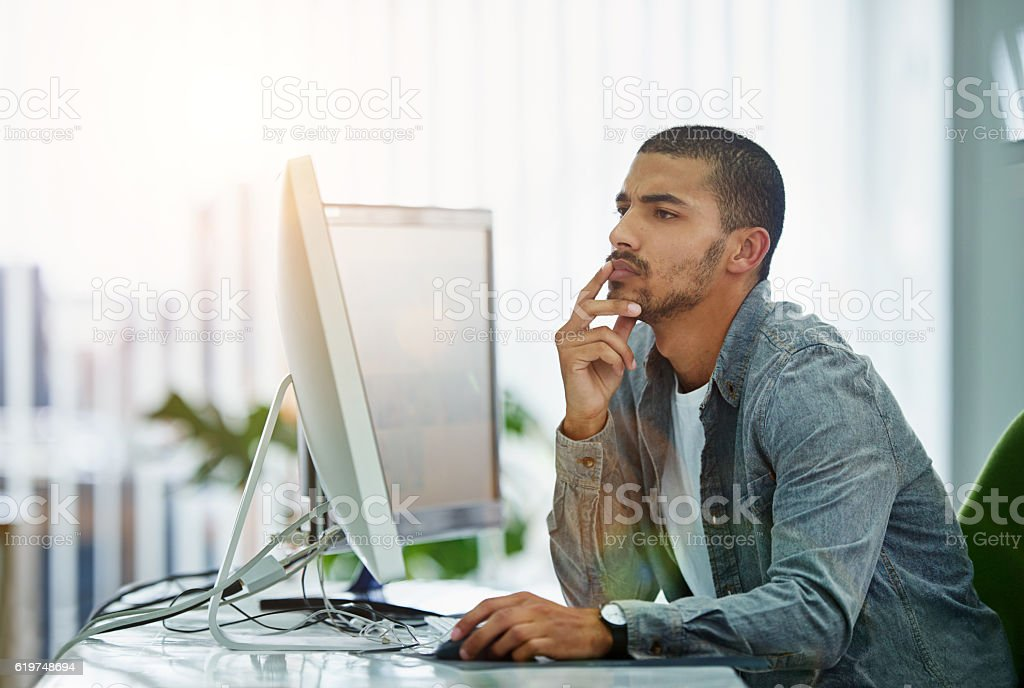 He's a man with solutions stock photo