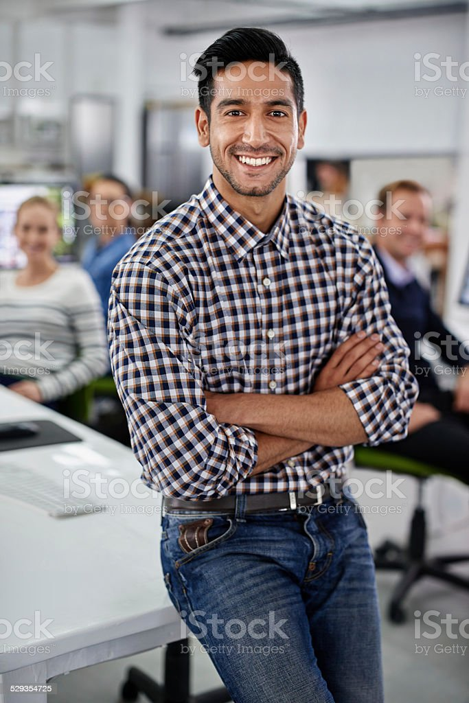 He's a manager you can trust stock photo