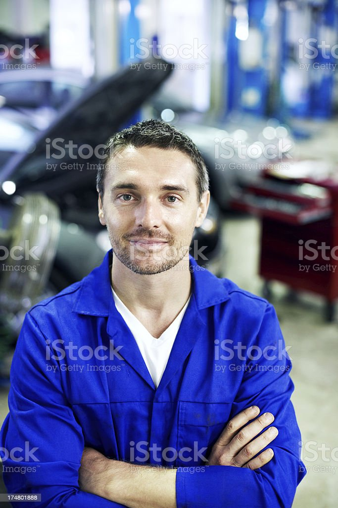 He's a mechanical artist! royalty-free stock photo