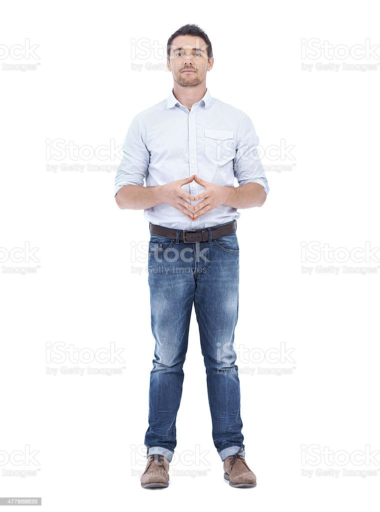 He's a modern man royalty-free stock photo