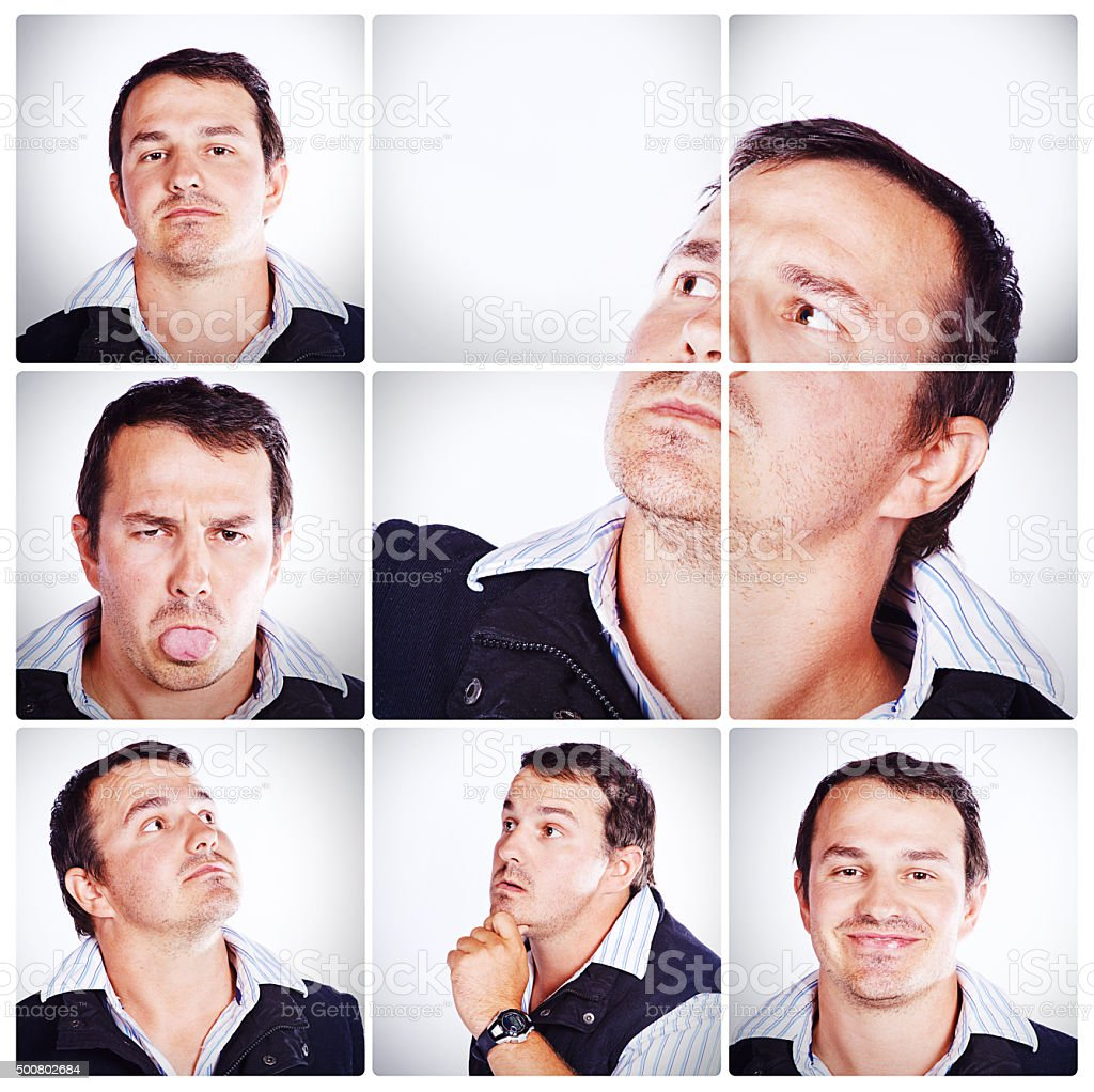He's a multi-faceted man stock photo