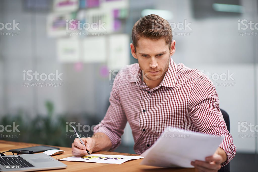 He's a real go-getter stock photo