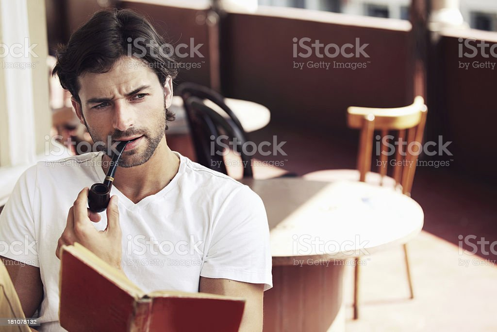 He's a real man about town royalty-free stock photo