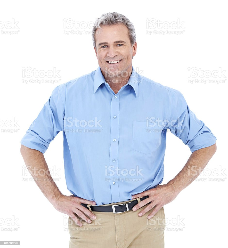 He's a self-made success royalty-free stock photo