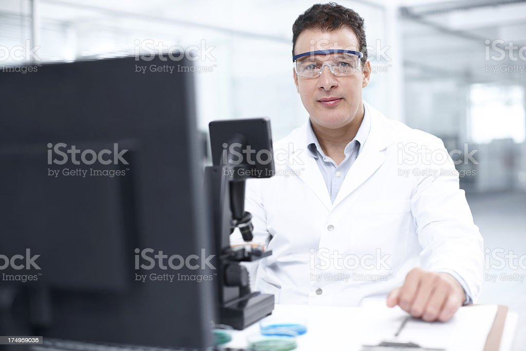He's a serious scientist royalty-free stock photo
