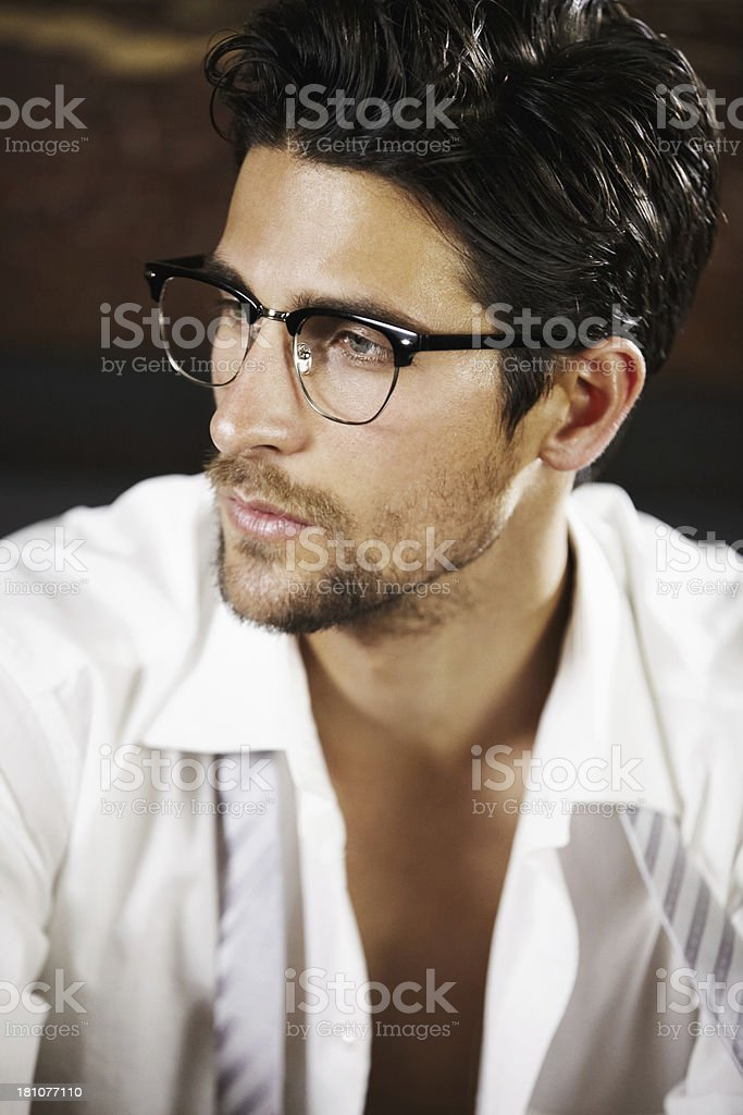 He's a sexy and sophisticated young man royalty-free stock photo