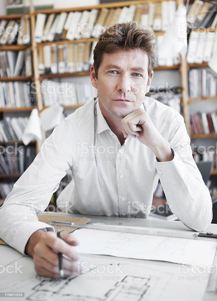 He's a skilled architectual professional royalty-free stock photo