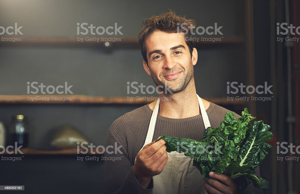 He's a spinach fan stock photo