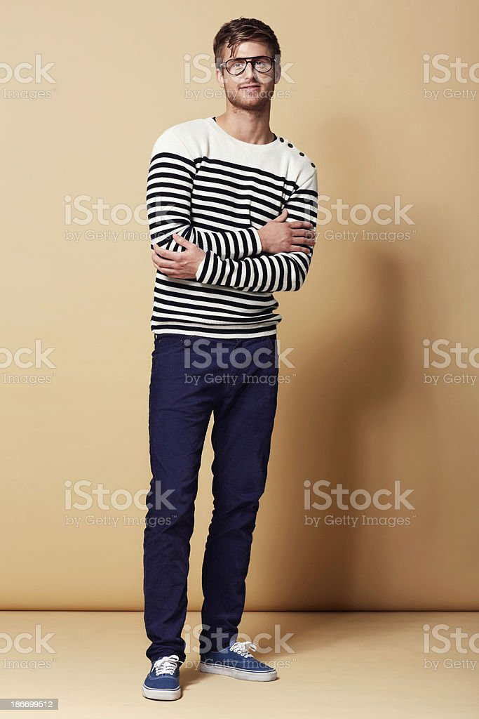 He's a style guy! royalty-free stock photo