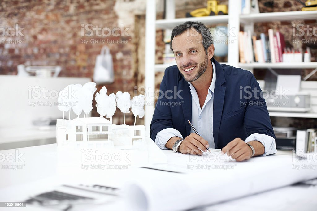 He's a talented architect royalty-free stock photo