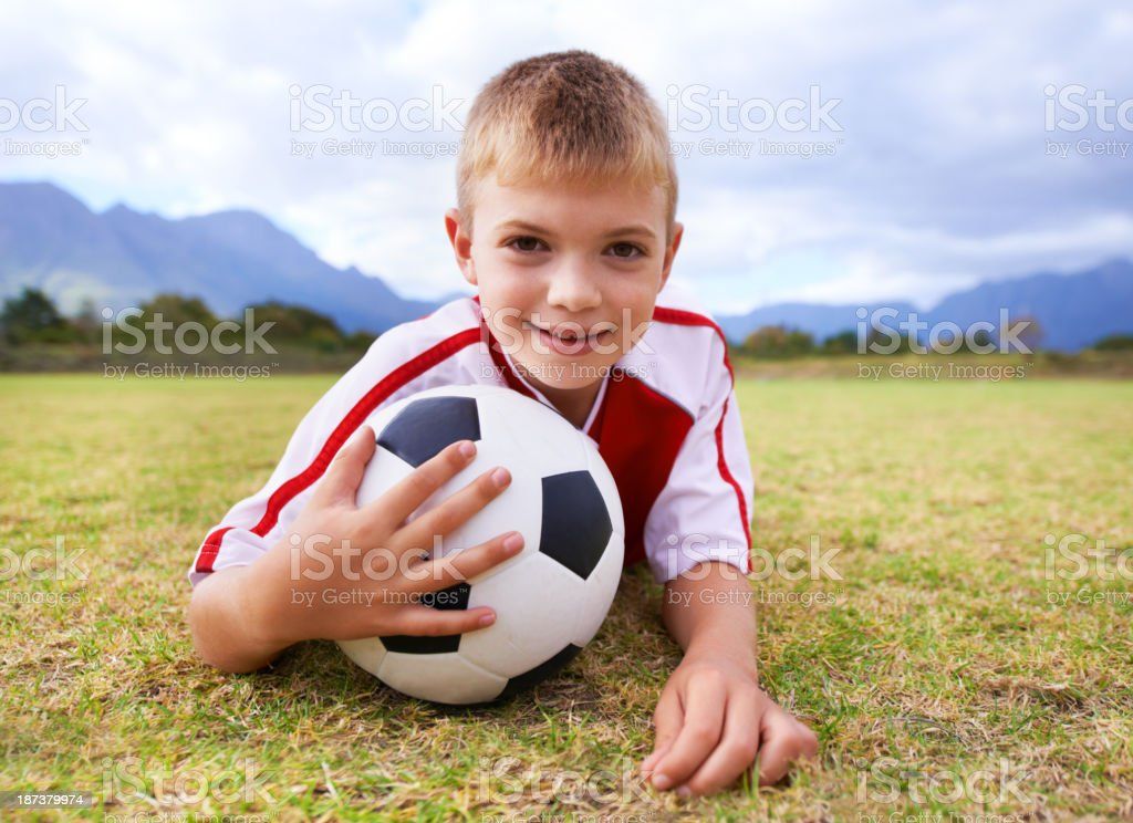 He's a team player royalty-free stock photo