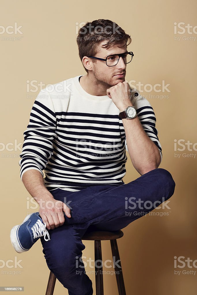 He's a thinking man... royalty-free stock photo