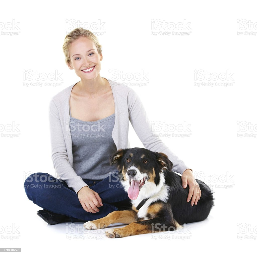 He's a true and loyal friend royalty-free stock photo