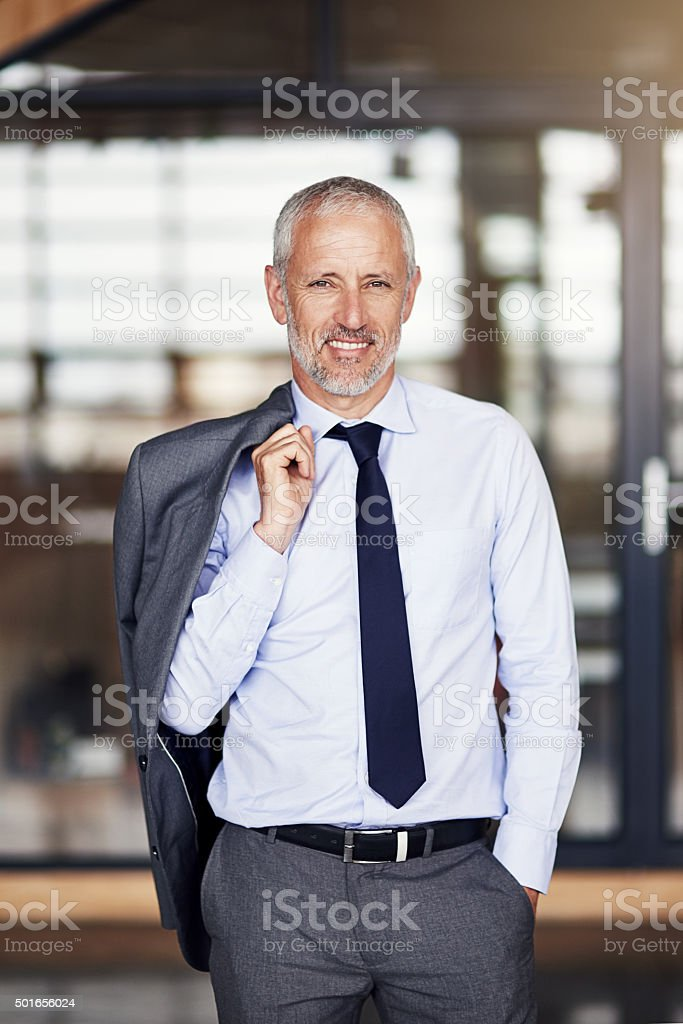 He's a well respected businessman stock photo