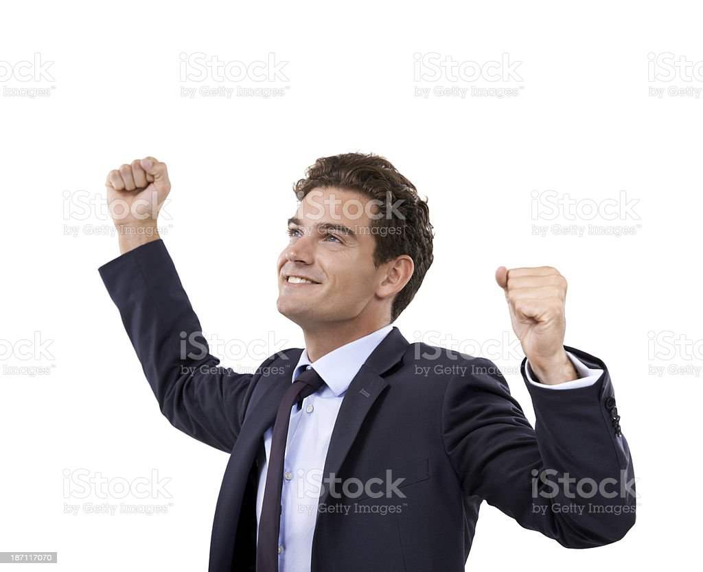 He's a winner royalty-free stock photo