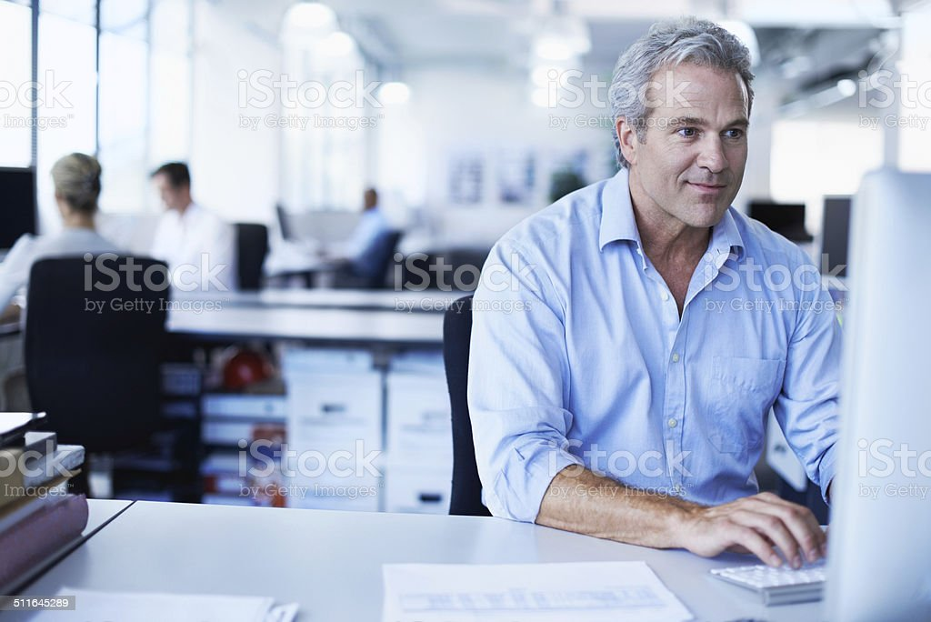 He's ahead of the game stock photo