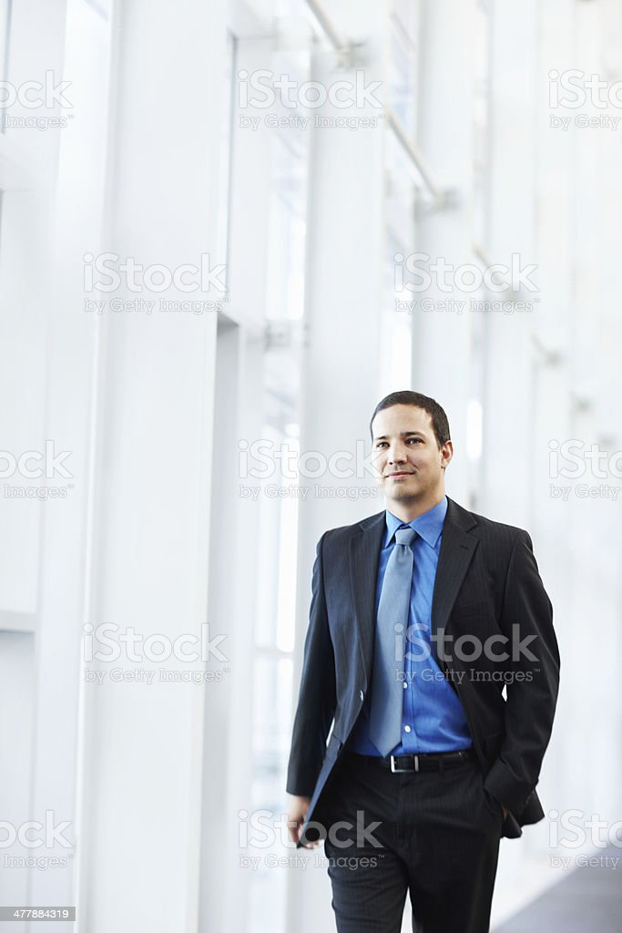 He's already got this contract in his mind royalty-free stock photo