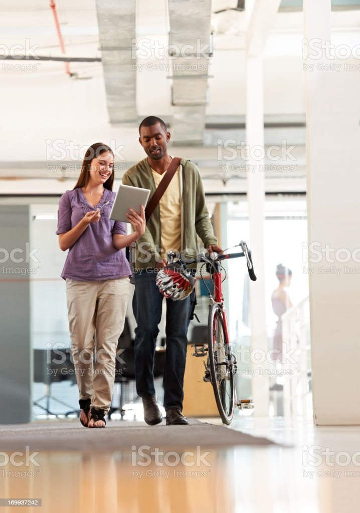 He's alway ready to help out a colleague royalty-free stock photo