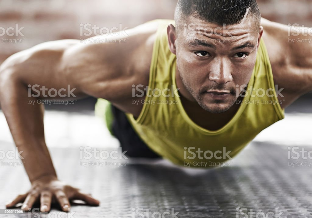 He's always down for a workout stock photo