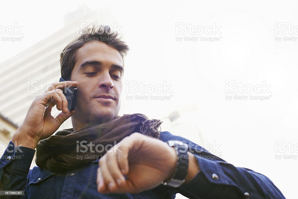 He's always got some time.... stock photo